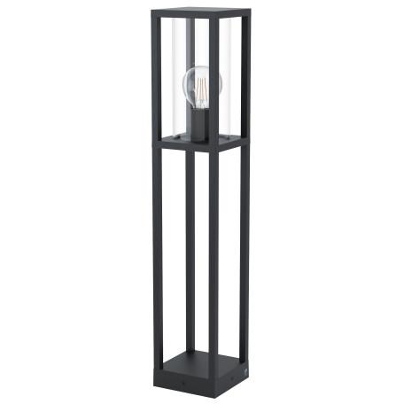 Садово-парковый светильник Eglo Cascinetta 98715, IP44, 1xE27x40W, черный, прозрачный, металл, стекло