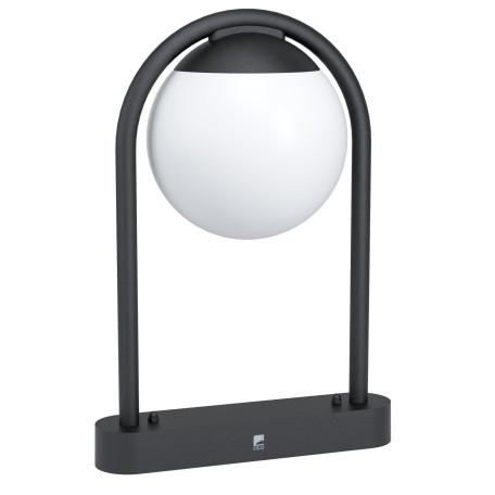 Садово-парковый светильник Eglo Prata Vecchia 98732, IP44, 1xE27x28W, черный, белый, металл, пластик