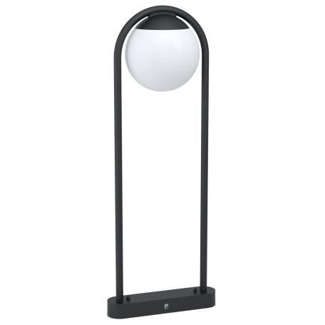 Садово-парковый светильник Eglo Prata Vecchia 98733, IP44, 1xE27x28W, черный, белый, металл, пластик