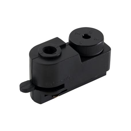 Крепление-адаптер для монтажа светильника на трек Crystal Lux CLT 0.212 01 BL 1408/018, черный, пластик