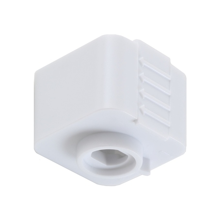 Крепление-адаптер для монтажа светильника на трек Crystal Lux CLT 0.212 03 WH 1408/021, белый, пластик