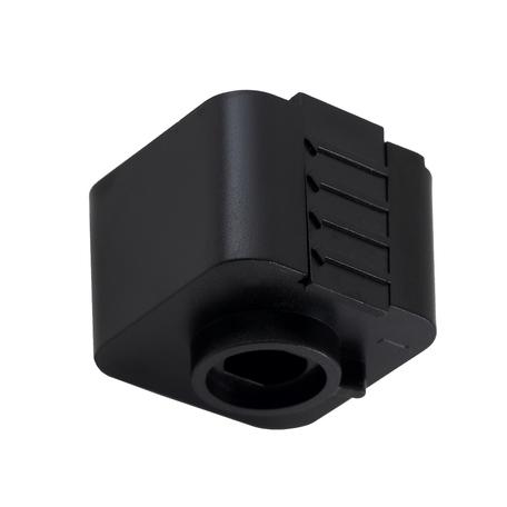Крепление-адаптер для монтажа светильника на трек Crystal Lux CLT 0.212 03 BL 1408/022, черный, пластик
