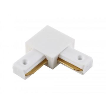 L-образный соединитель для шинопровода Crystal Lux CLT 0.211 02 WH 1408/003, белый, пластик