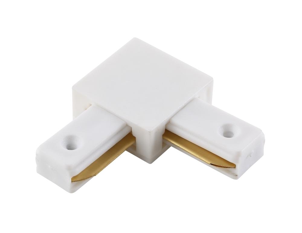 L-образный соединитель для шинопровода Crystal Lux CLT 0.211 02 WH 1408/003, белый, пластик - фото 1