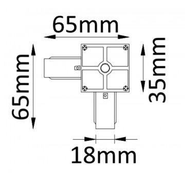 Схема с размерами Crystal Lux 1408/003