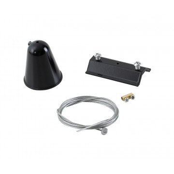 Набор для подвесного монтажа шинной системы Crystal Lux CLT 0.210 03 BL 1408/016, черный, металл