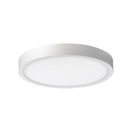 Потолочный светодиодный светильник Crystal Lux 1400/125, LED 8W, 3000K (теплый), белый, металл со стеклом/пластиком