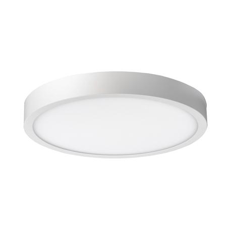 Потолочный светодиодный светильник Crystal Lux 1400/126, LED 14W, 3000K (теплый), белый, металл со стеклом/пластиком