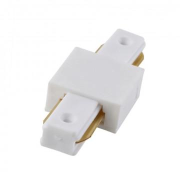 Прямой соединитель для шинопровода Crystal Lux CLT 0.211 01 WH 1408/001, белый, пластик