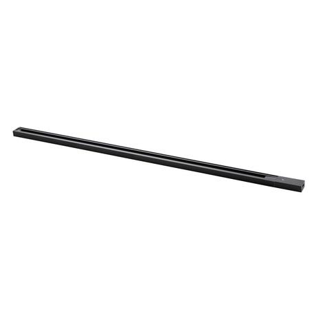 Шинопровод в сборе с питанием и заглушкой Crystal Lux CLT 0.11 01 L2000 BL 1407/004, черный, металл