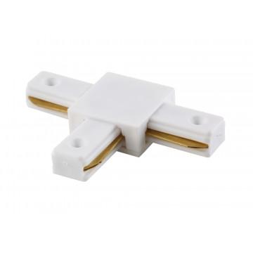 T-образный соединитель для шинопровода Crystal Lux CLT 0.211 03 WH 1408/005, белый, пластик