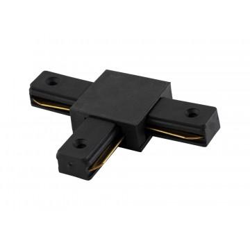 T-образный соединитель для шинопровода Crystal Lux CLT 0.211 03 BL 1408/006, черный, пластик