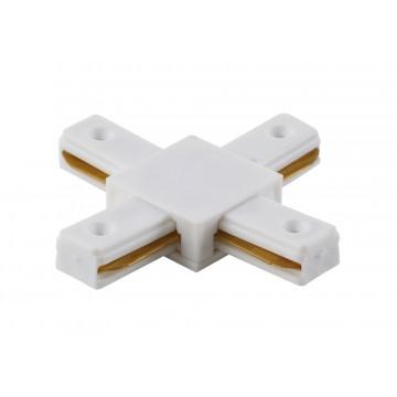 X-образный соединитель для шинопровода Crystal Lux CLT 0.211 04 WH 1408/007, белый, пластик