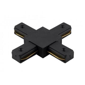 X-образный соединитель для шинопровода Crystal Lux CLT 0.211 04 BL 1408/008, черный, пластик