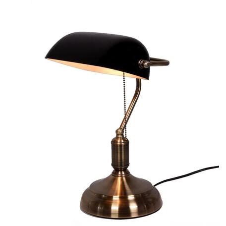 Настольная лампа Lumina Deco Banker LDT 305 BK, 1xE27x40W