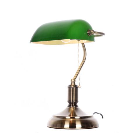 Настольная лампа Lumina Deco Banker LDT 305 GR, 1xE27x40W