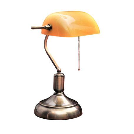 Настольная лампа Lumina Deco Banker LDT 305 YL, 1xE27x40W