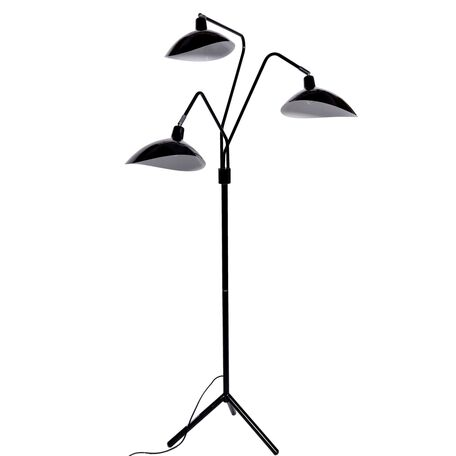Торшер Lumina Deco Adarrio LDF 511-3 BK, 3xE27x40W, черный, металл