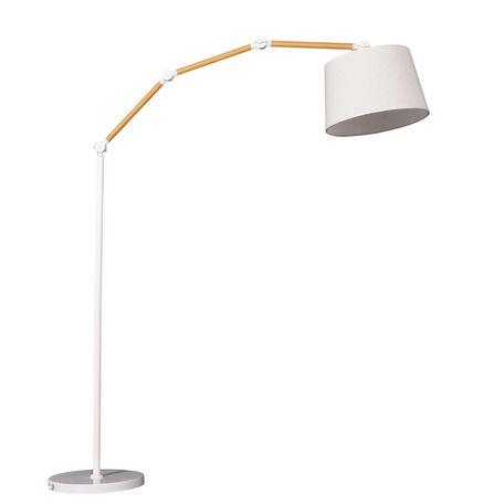 Торшер Lumina Deco Corsus LDF 8305 KR, 1xE27x40W, белый