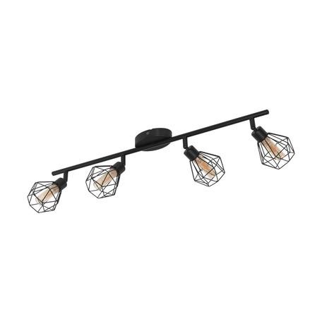 Потолочный светильник с регулировкой направления света Eglo Zapata 1 32767, 4xG9x3W, черный, металл, металл со стеклом
