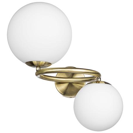 Бра Lightstar Globo 815621, 2xG9x40W, матовое золото, белый, металл, стекло