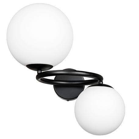 Бра Lightstar Globo 815627, 2xG9x40W, черный, белый, металл, стекло