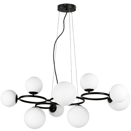 Подвесная люстра Lightstar Globo 815097, 9xG9x40W, черный, белый, металл, стекло