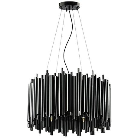 Подвесная люстра Lightstar Savona 816107, 10xG9x40W, черный, металл