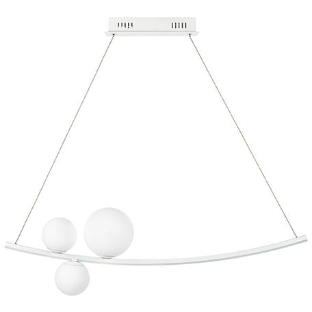 Подвесной светодиодный светильник Lightstar Croco 815436, LED 40W 3000K 2800lm, белый, металл, стекло