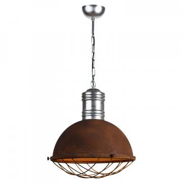 Подвесной светильник Lussole Loft Huntsville LSP-9500, IP21, 1xE27x60W, серый, коричневый, металл