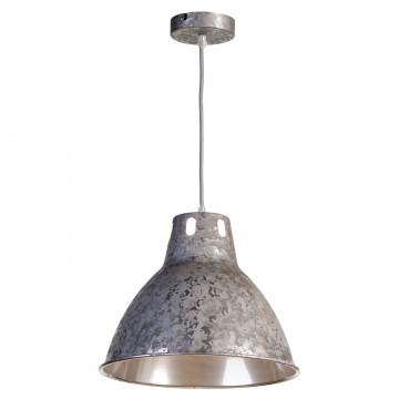 Подвесной светильник Lussole Loft Huntsville LSP-9503, IP21, 1xE27x60W, серый, металл