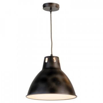 Подвесной светильник Lussole Loft Huntsville LSP-9504, IP21, 1xE27x60W, черный, металл