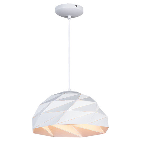 Подвесной светильник Lussole Loft Hoover LSP-9531, IP21, 1xE27x60W, белый, металл - миниатюра 1