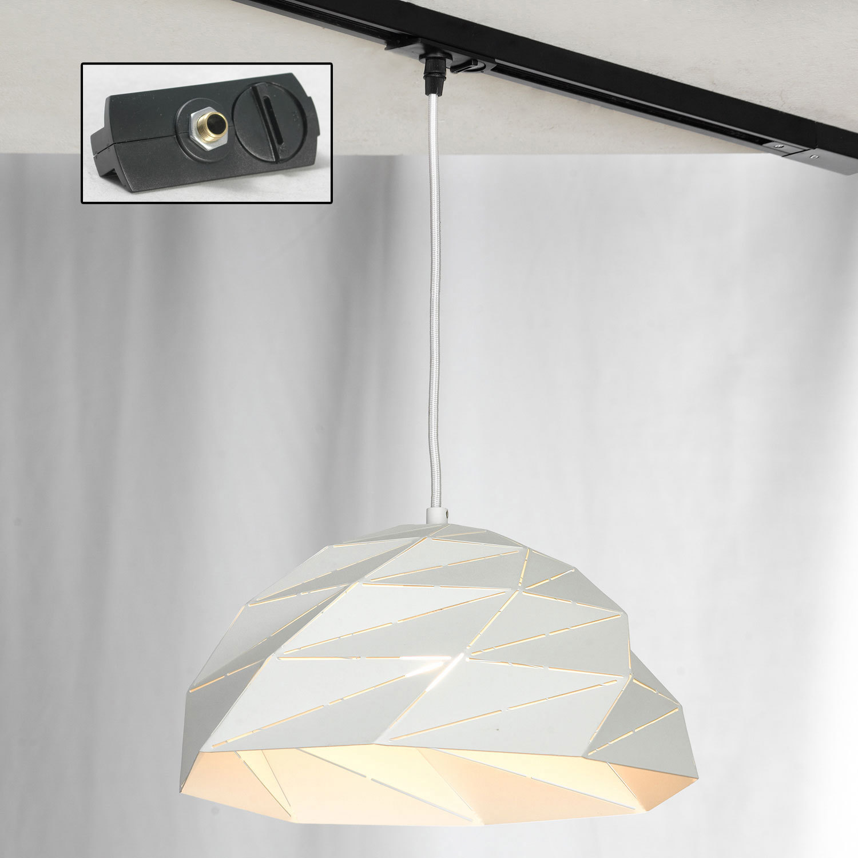 Подвесной светильник Lussole Loft Hoover LSP-9531, IP21, 1xE27x60W, белый, металл - фото 2