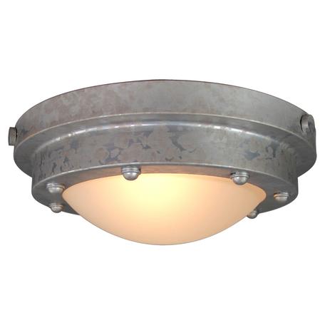 Потолочный светильник Lussole Loft Brentwood LSP-9999, IP21, 1xE27x60W, серый, стекло
