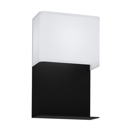 Светодиодный светильник с полкой Eglo Galdakao 99069, LED 5,4W 3000K 410lm, черный, белый, металл, текстиль