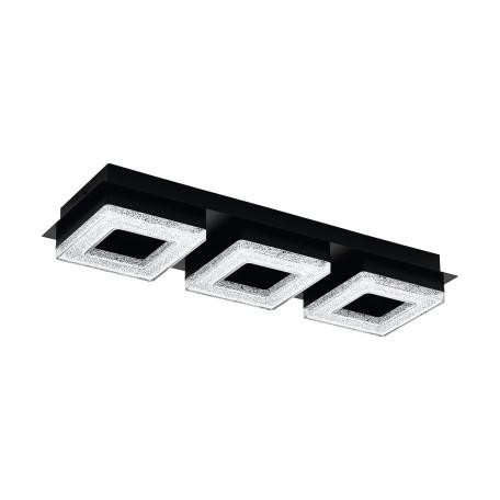 Светодиодный светильник Eglo Fradelo 1 99325, LED 12W 3000K 1200lm, черный, белый, металл, пластик