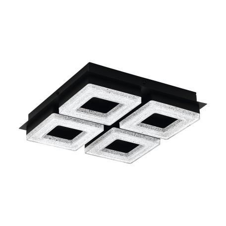 Светодиодный светильник Eglo Fradelo 1 99326, LED 16W 3000K 1600lm, черный, белый, металл, пластик