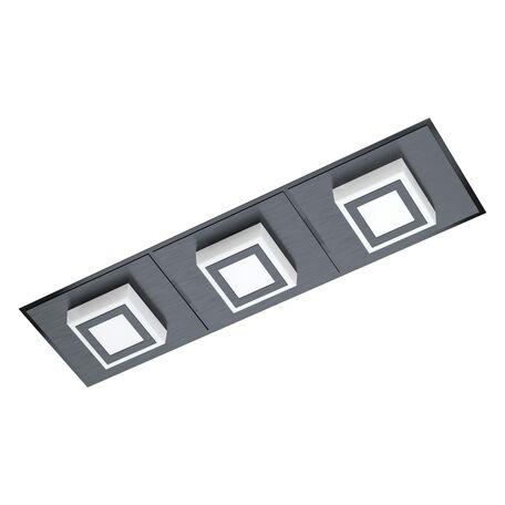 Светодиодный светильник Eglo Masiano 1 99363, LED 9,9W 3000K 1020lm, черный, черный с белым, металл, пластик с металлом