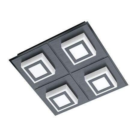 Светодиодный светильник Eglo Masiano 1 99364, LED 13,2W 3000K 1360lm, черный, черный с белым, металл, пластик с металлом