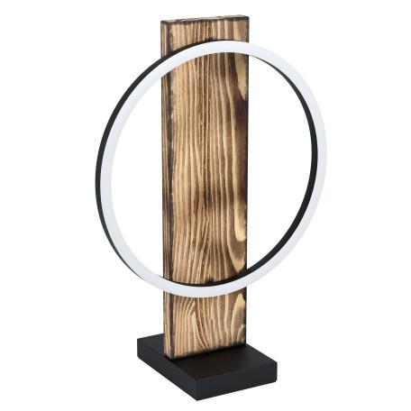 Светодиодный светильник Eglo Boyal 99457, LED 12W 3000K 1700lm, черный с коричневым, коричневый с черным, черный с белым, дерево с металлом, металл с пластиком, пластик с металлом