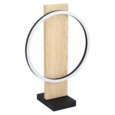 Светодиодный светильник Eglo Boyal 99469, LED 12W 3000K 1700lm, бежевый с черным, черный с белым, дерево с металлом, металл с пластиком, пластик с металлом