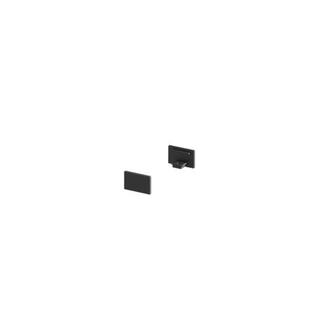Концевая заглушка для профиля для светодиодной ленты SLV GRAZIA 10 1000477, черный, металл