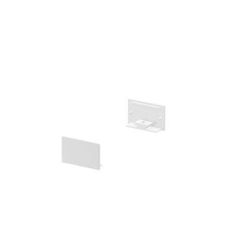 Концевая заглушка для профиля для светодиодной ленты SLV GRAZIA 20 1000560, белый, металл