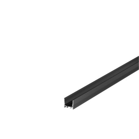 Накладной профиль для светодиодной ленты без рассеивателя SLV GRAZIA 20 1000516, черный, металл