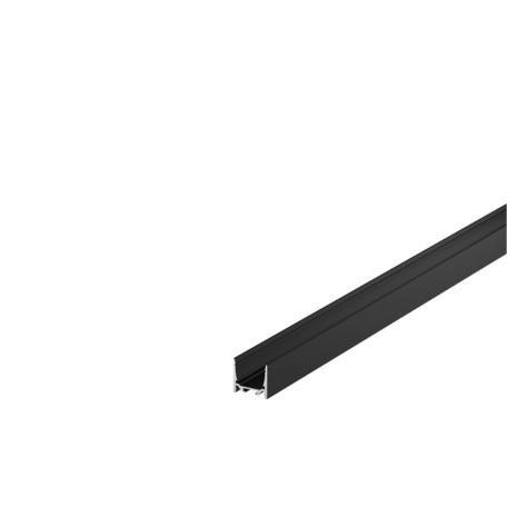 Накладной профиль для светодиодной ленты без рассеивателя SLV GRAZIA 20 1000519, черный, металл