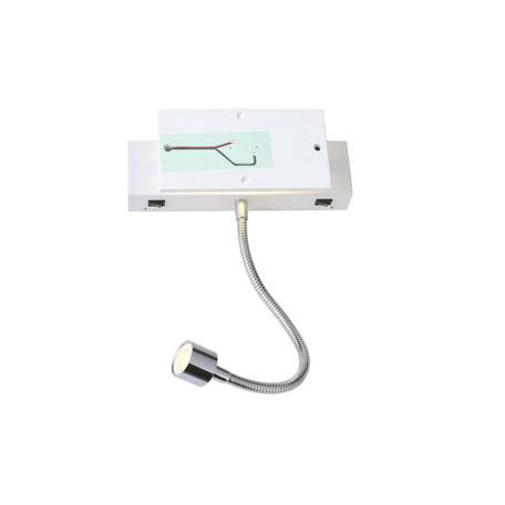 Основание настенного светодиодный светильника с дополнительной подсветкой SLV MANA 200 SPOT 1000615, LED 3000K, хром, металл