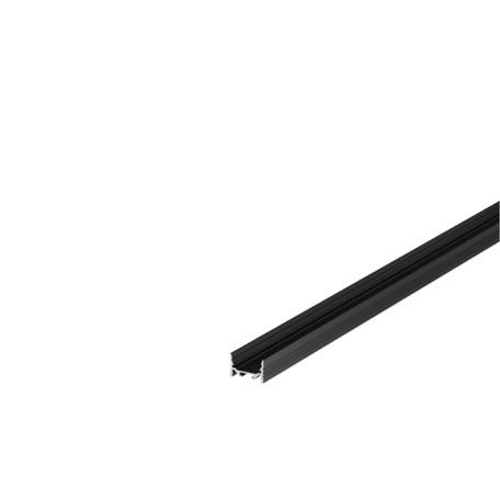 Профиль для светодиодной ленты без рассеивателя SLV GRAZIA 20 1000507, черный, металл
