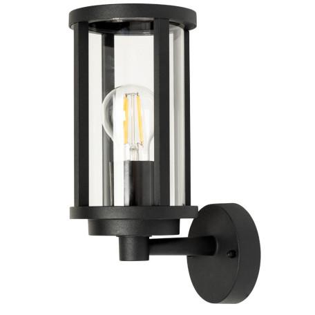 Настенный фонарь Arte Lamp Toronto A1036AL-1BK, IP54, 1xE27x40W, черный, прозрачный, металл, стекло