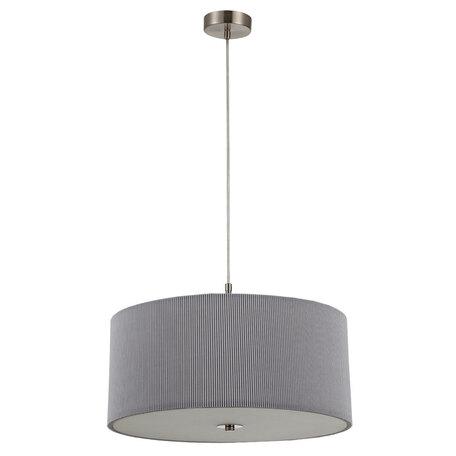 Потолочно-подвесной светильник Arte Lamp Mallorca A1021SP-5SS, 5xE27x40W, никель, серый, металл, текстиль